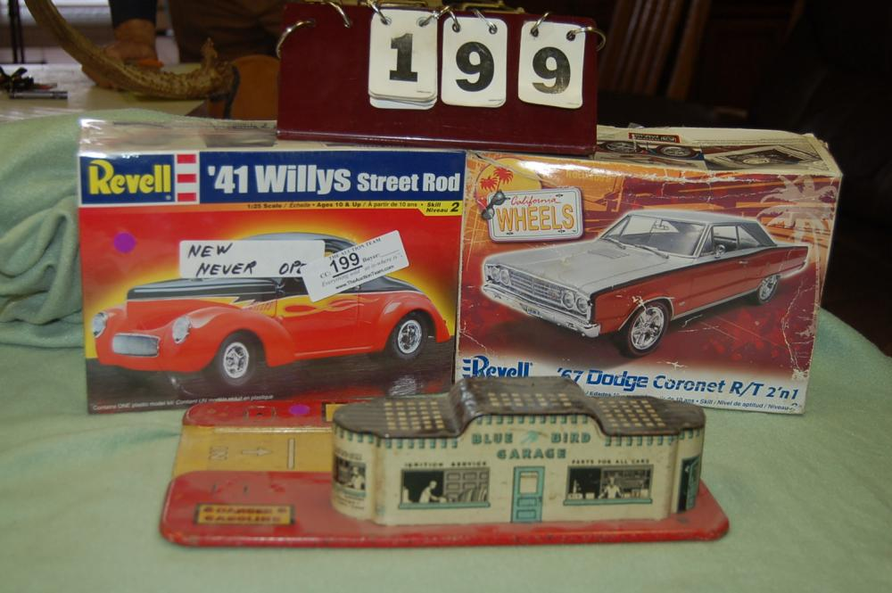 Revell Models And Tin Bluebird Café Toy - Current price: $18