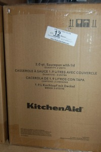 2 -Kitchen Aid 2 Quart Sauce Pan with Lid