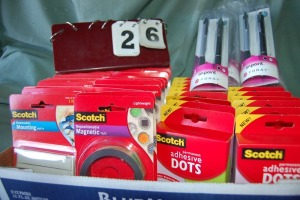 Scotch Adhesive Items and Pens