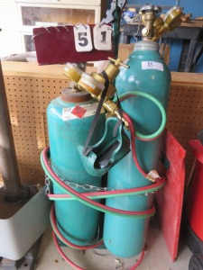 Oxygen And Acetenyl Tanks