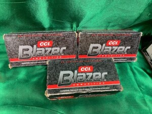 3 Boxes Of Blazer 9mm