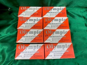 8 Boxes Of Olympic 9mm Luger