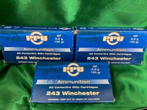 3 Boxes PPU 243 Winchester