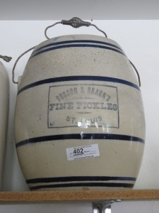 Dodson And Braun's Pickle Crock