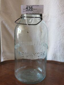 1/2 Gallon Crown Cordial Extract New York Jar