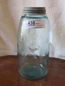 1/2 Gallon Mason Patent Jar 1858