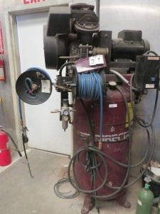 Direct Air Compressor With 5HP Baldor Motor Two 30' Hose Reels