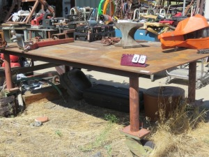 Approx. 5'x8' Metal Welding Table On Casters