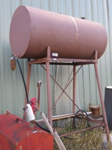 Fuel Tank On Stand, Fuel Unknown