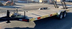 2000, 21' Trailer, With Winch, 12,000lbs Axels. VIN#1S9HP2027YC241714
