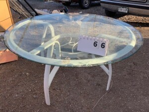 "54"" Glass Patio Table"